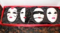 David Mack's miniature Kabuki mask of Noh set of 4
