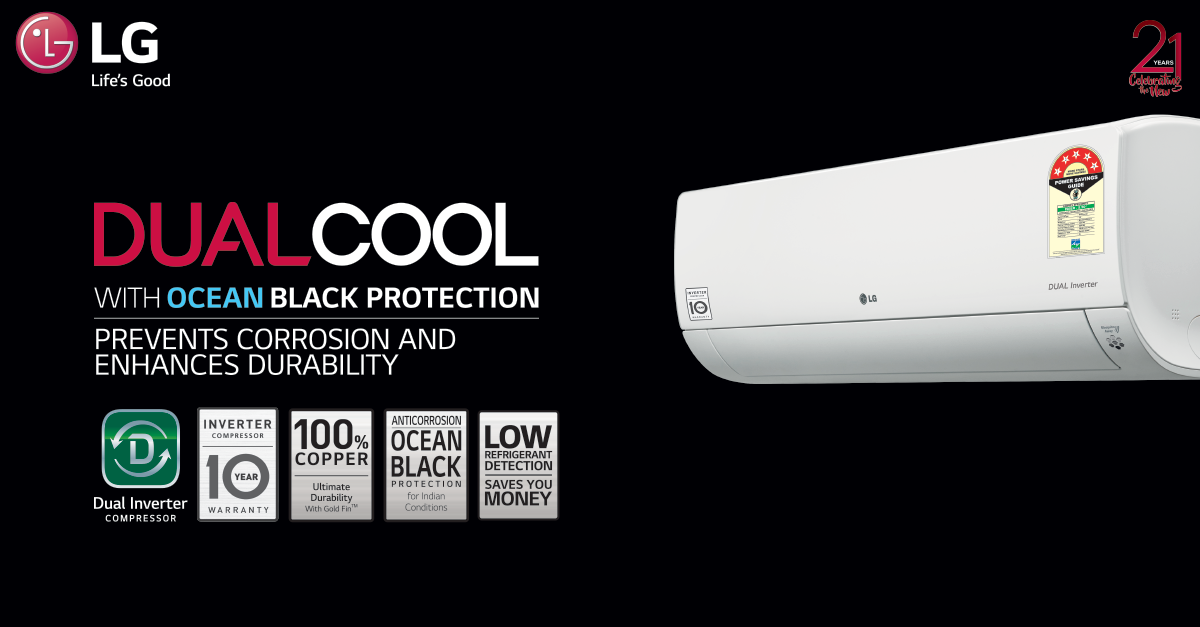 Lg Window Inverter Ac Designed To Enhance Summer The Dualcool Technology Ensures Faster Cooling And Enhanced In 2020 Air Conditioner Windows Window Air Conditioner