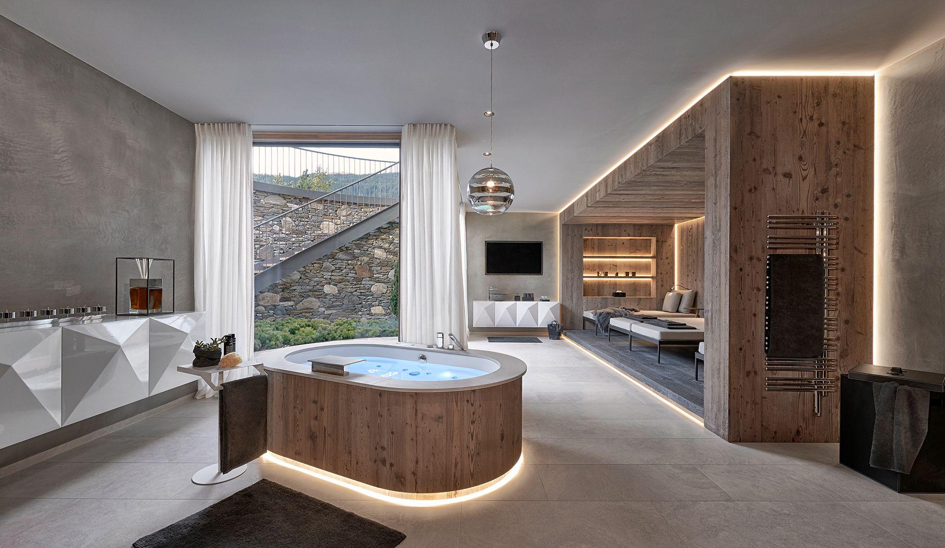 badarchitektur wellness von gasteiger bad in kitzb hel chalet stil naturstein terradistone. Black Bedroom Furniture Sets. Home Design Ideas