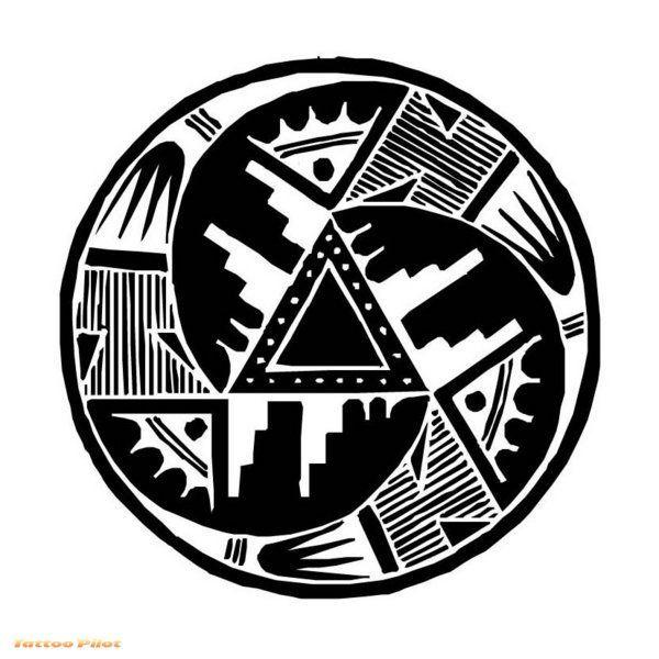 Indian Art Tattoo Looks Like The Basic Design Of A Crop Circle Google Image Resul Native American Tattoos Tribal Tattoos Native American Tribal Tattoo Designs