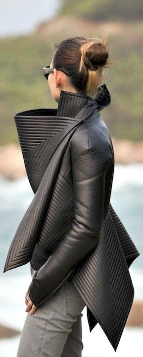 Gareth Pugh wow.  now that's artistic. just don't turn around too fast and poke your guy's eyes out.  nice.