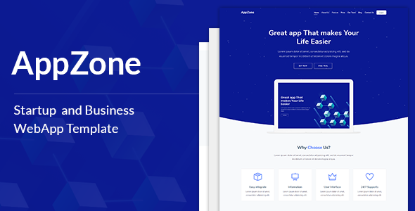 AppZone is a responsive, professional, and multipurpose SaaS
