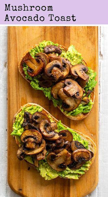 Mushroom Avocado Toast | THE KILLER RECIPES #healthyfood