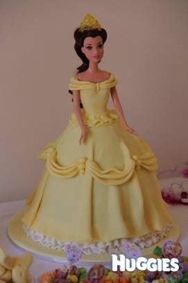 Dolly varden Princess Belle cake for my daughters 3rd birthday We