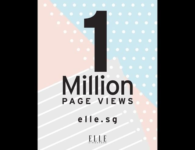We hit ONE MILLION monthly page views on ELLE.sg!  Thank you all for your support and  - we're super stoked! Look out for our Thanks A Million party coming up soon just for you!  #partytime #ellesingapore  via ELLE SINGAPORE MAGAZINE OFFICIAL INSTAGRAM - Fashion Campaigns  Haute Couture  Advertising  Editorial Photography  Magazine Cover Designs  Supermodels  Runway Models
