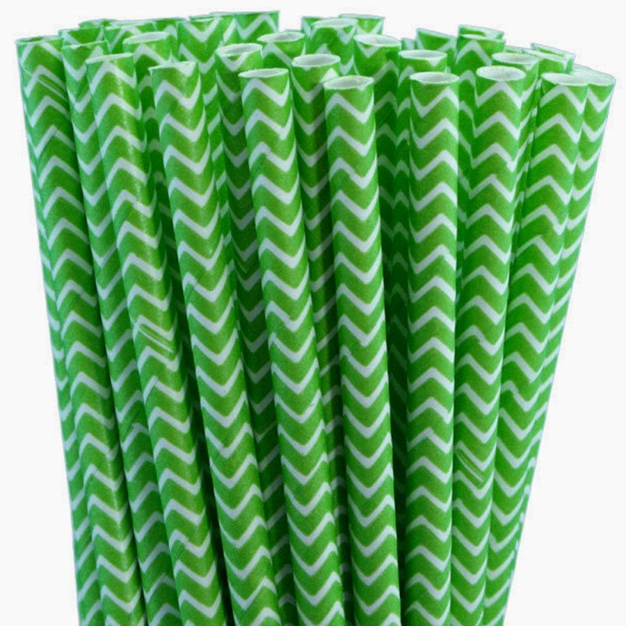 Jagged Stripe Eco Straws (Pack of 50, 100, 250 or 500pcs