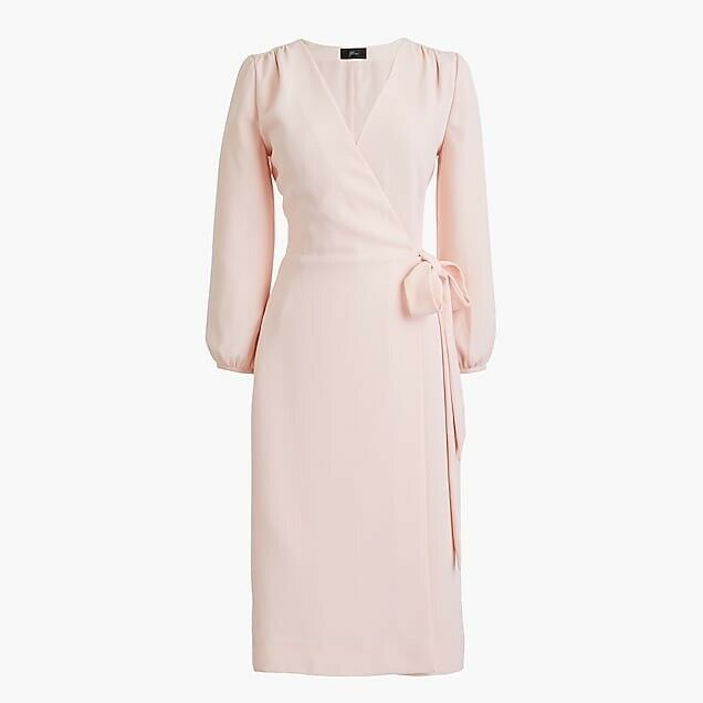 J. Crew Size 10 365 Crepe Wrap Dress In Pink 3/4 Sleeve Work Career Preppy NEW    eBay -   17 wrap dress 2018 ideas