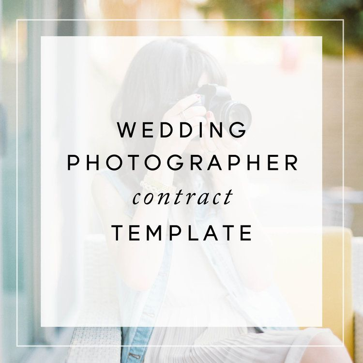Wedding Photography Contract Template  Tips For Photographers