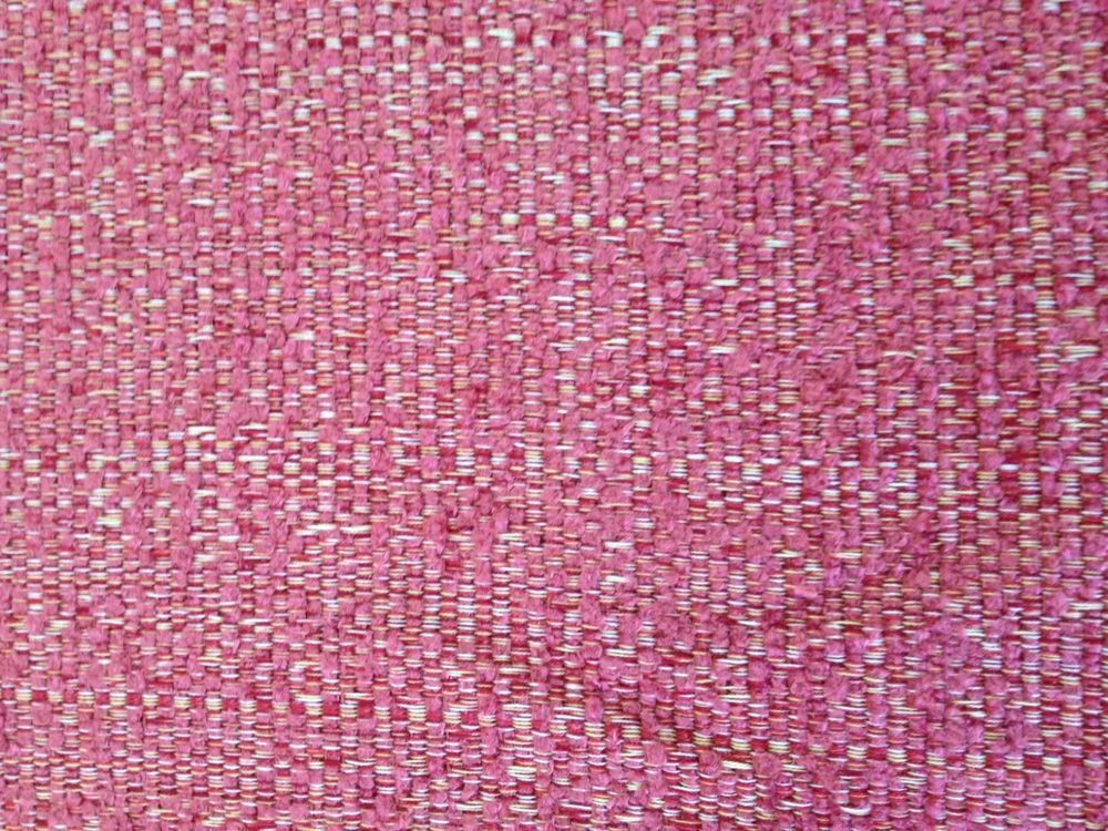 Textured Hot Pink Off White Fabric Cotton Blend By The Yard