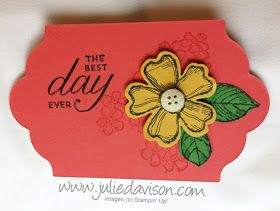 Stampin' Up! Birthday Blossoms Gift Tag #stampinup www.juliedavison.com