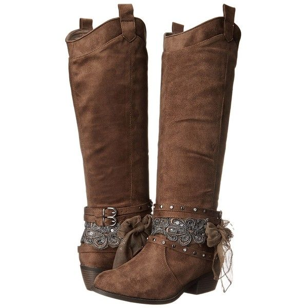 Not Rated Mumford (Taupe) Women's Boots ($48) ❤ liked on Polyvore featuring