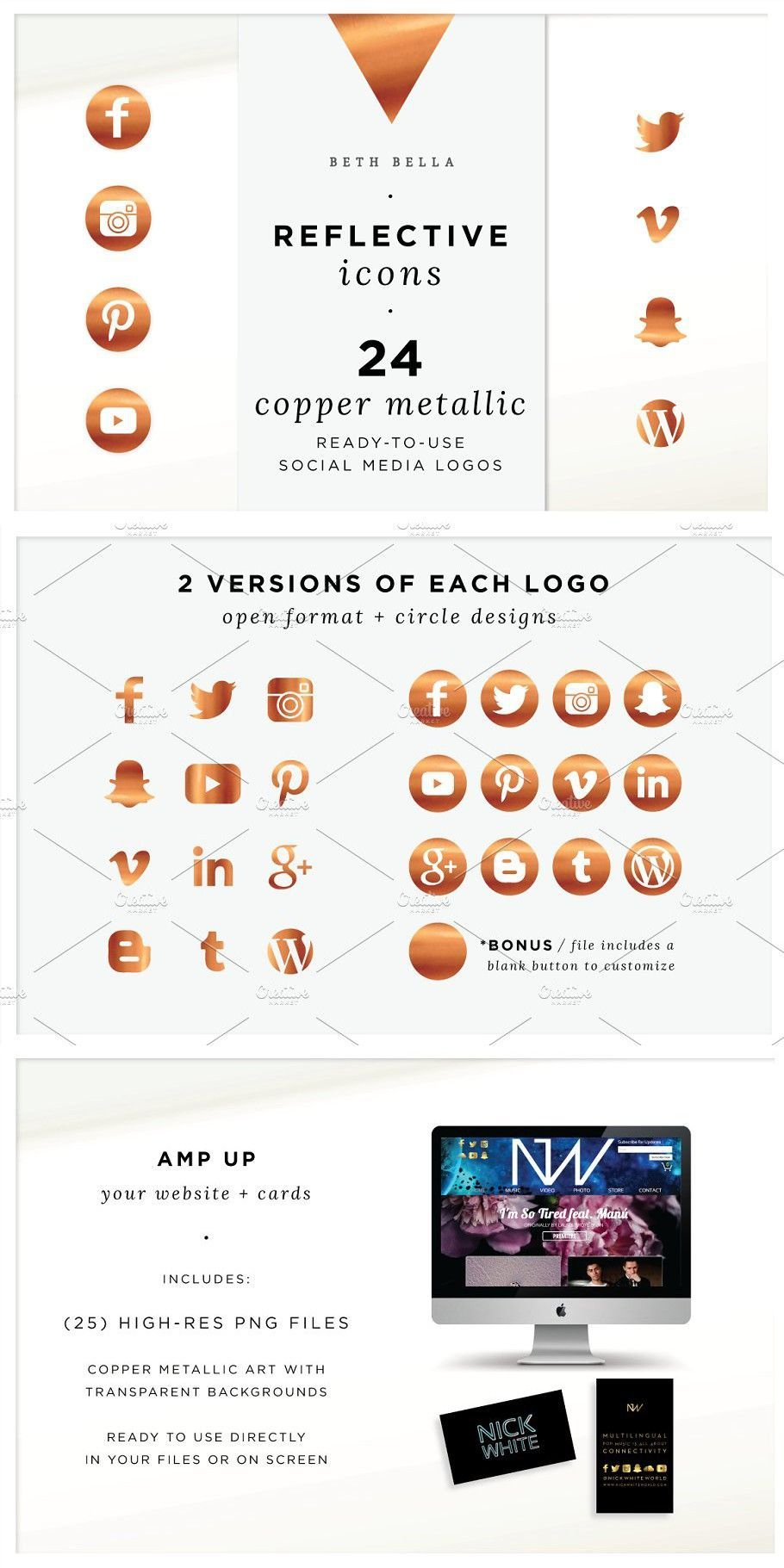 like button youtube icon Copper Social Media Icons in
