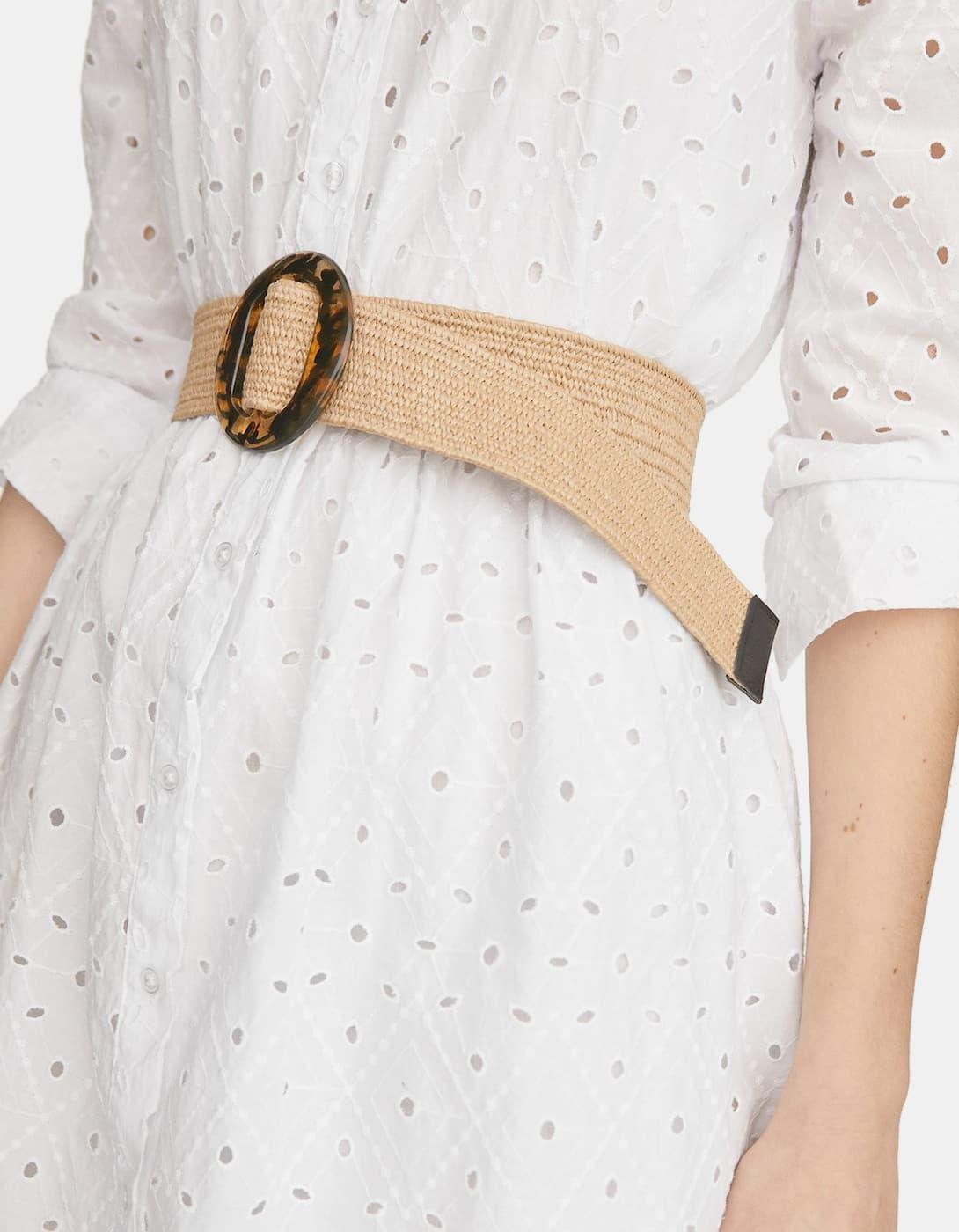 Cinturón Rafia Ancho Cinturones De Mujer Stradivarius Cinturones Mujer Cinturones De Moda Cinturones