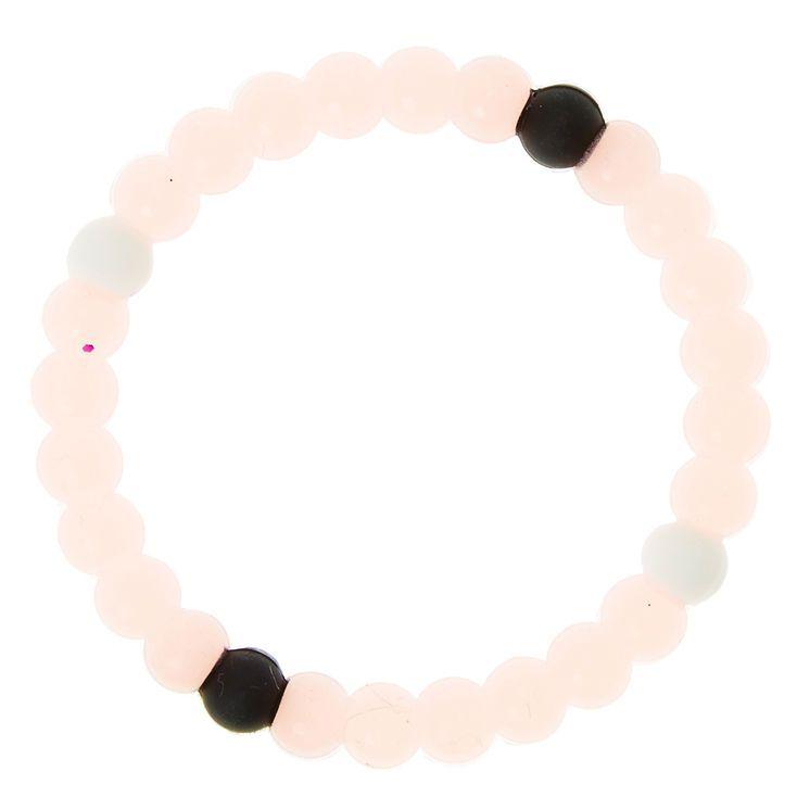 Glow In The Dark Fortune Stretch Bracelet - Pink
