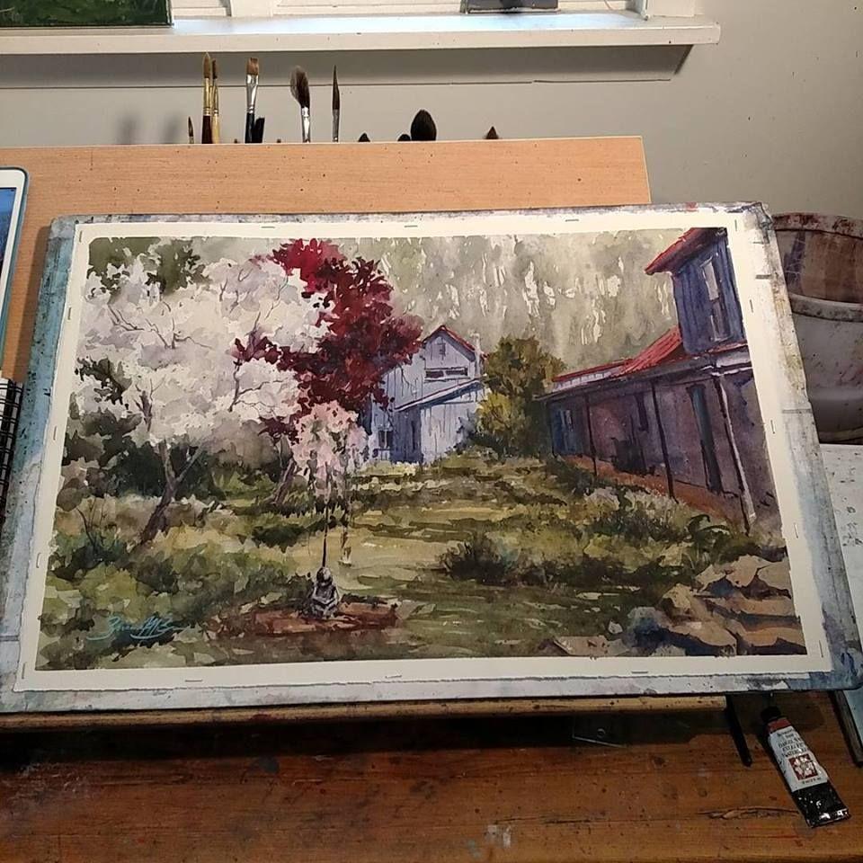 Brienne brown painting art watercolor