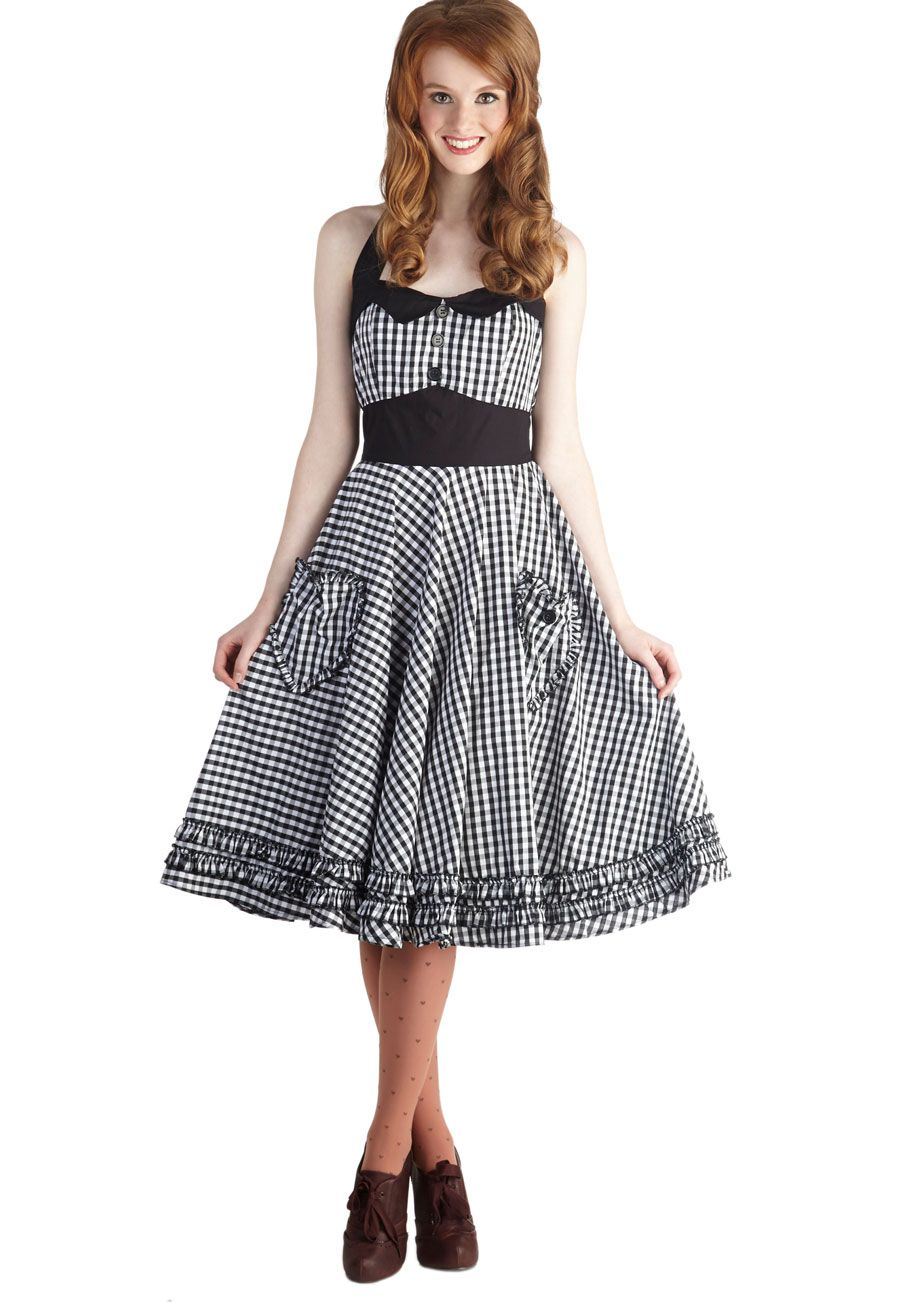 Salty and Pepper Dress, #ModCloth