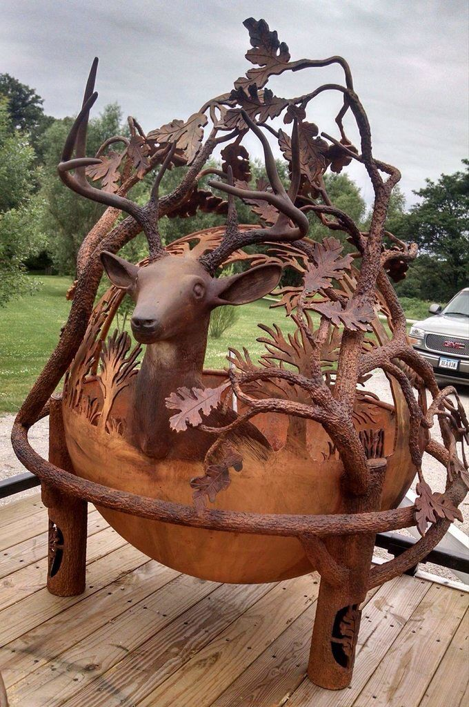 Pin by Marissa Stoker on blacksmithy in 2019 | Fire pit ...