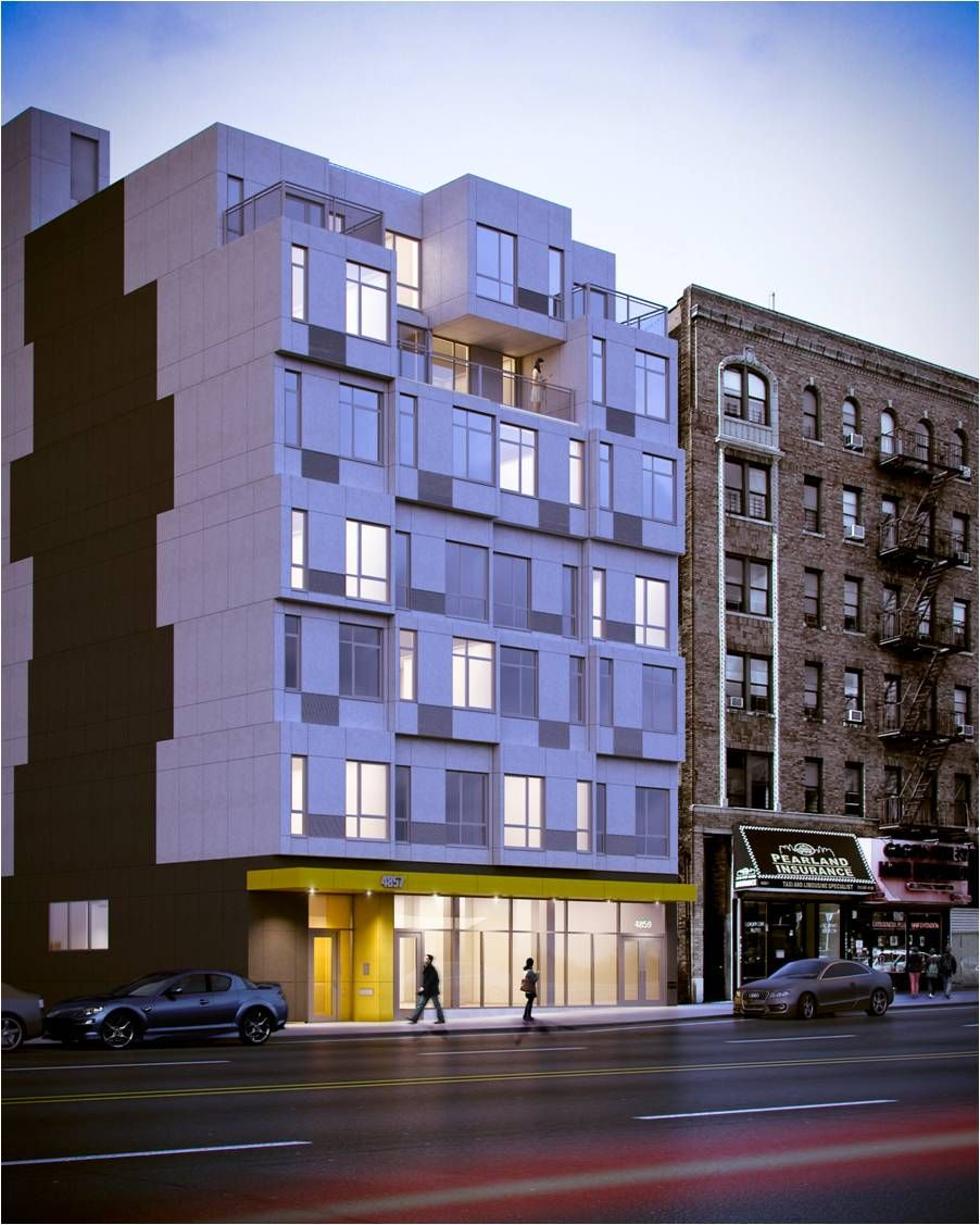 Cheap Apartment Complexes: Seven-story Apartment Building In The Inwood Section Of