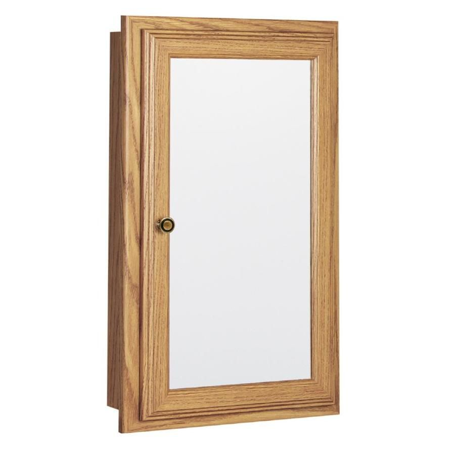 Style selections x rectangle surface recessed mirrored particleboard medicine cabinet 33016