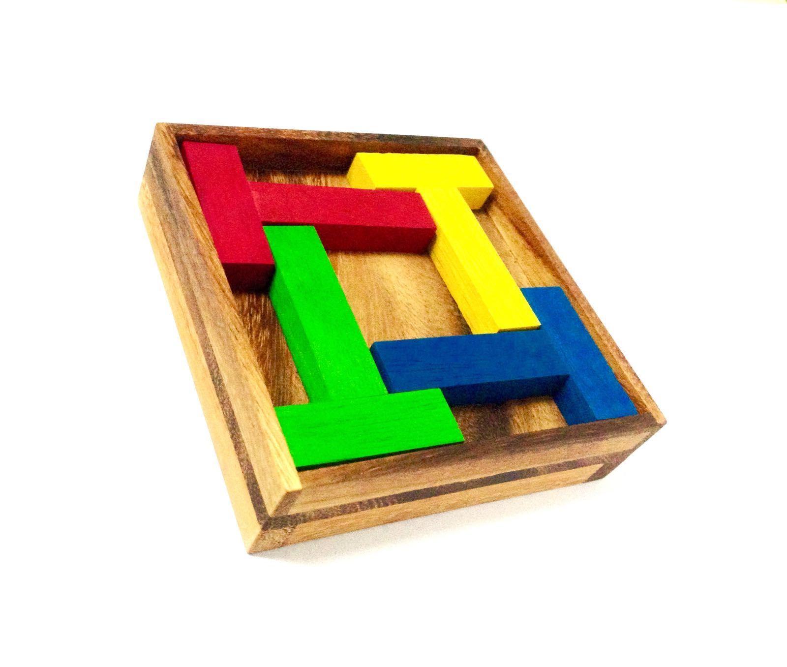 Puzzle Inteligente de Madera 4T Puzzle 5 Rompecabezas 1 LOGICA GIOCHI Art