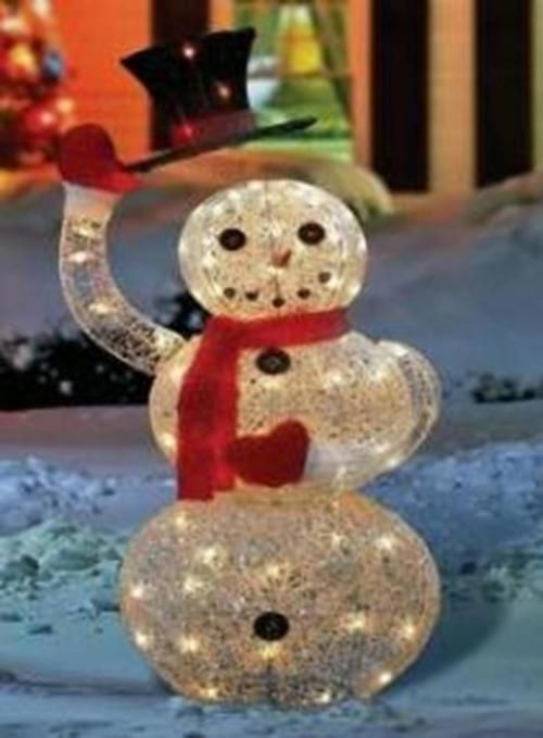 46\ - outdoor snowman christmas decorations