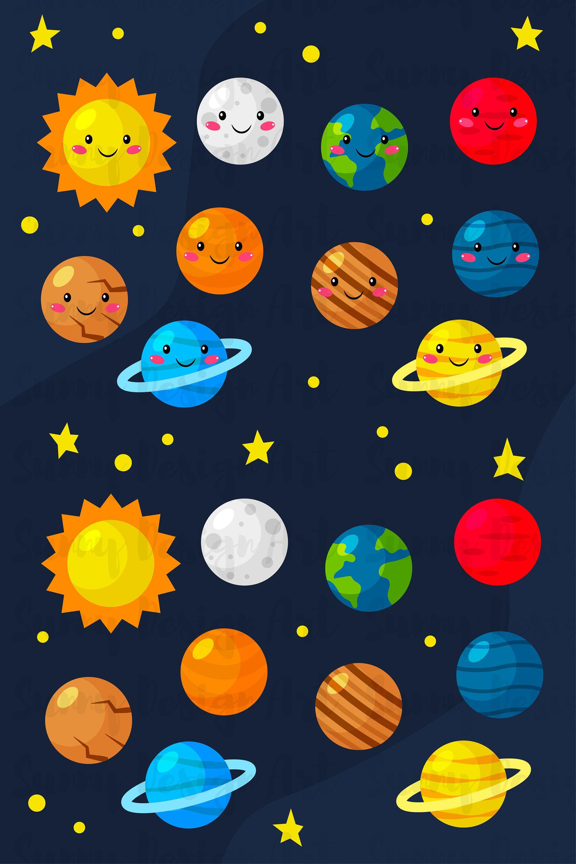 Vector Space Clipart Digital Clip Art Png Images Digital Etsy In 2021 Space Drawings Colorful Drawings Art