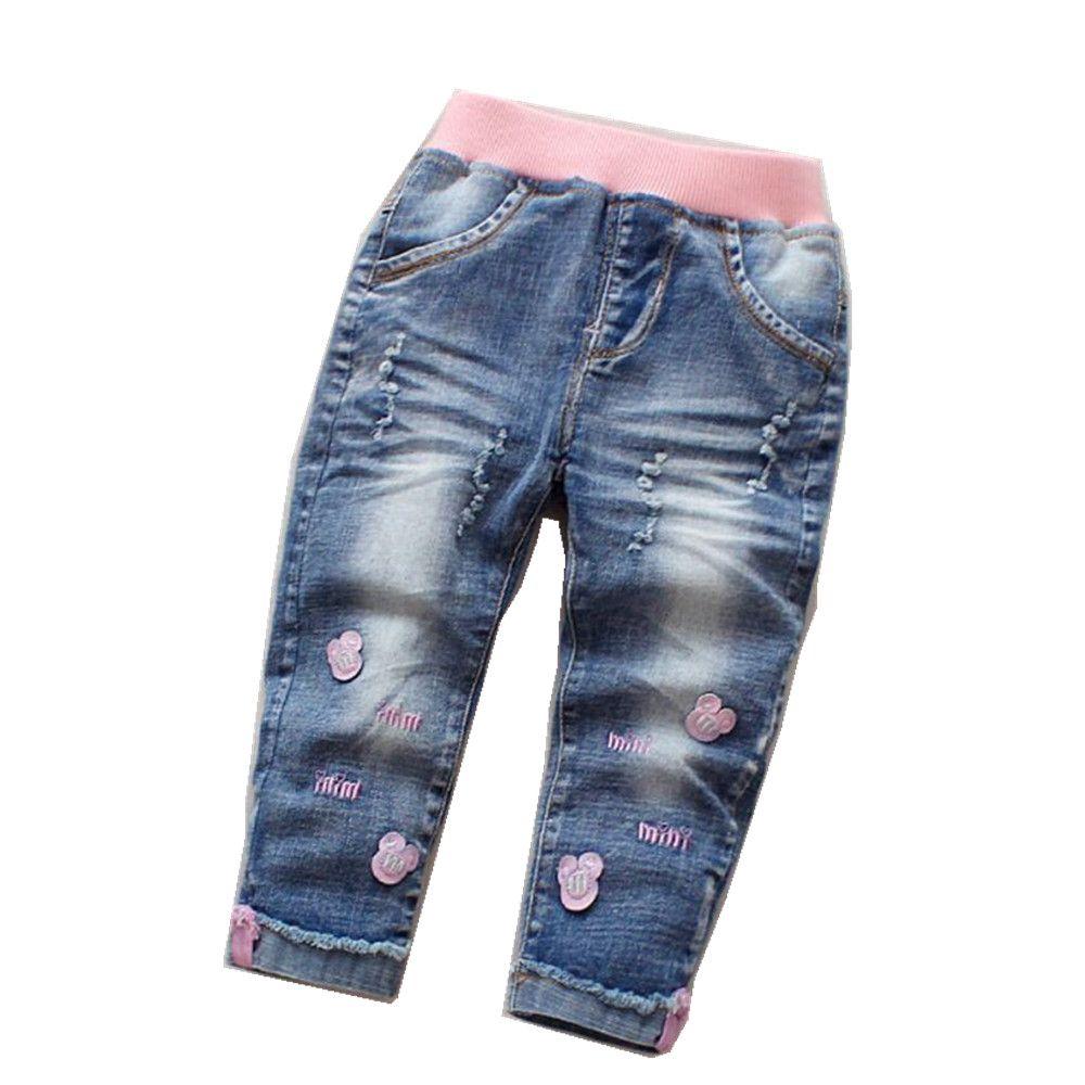 9d0ce7692a86 Las niñas de la ropa de los niños pantalones vaqueros para niña primavera  pantalones vaqueros del