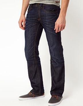 27e91e86 Enlarge Diesel Jeans Larkee Straight Fit 0806W Dark Wash | Fashion ...