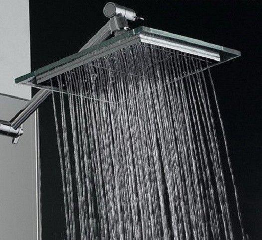 Rain Style Shower Head Swivel Adapter W Chrome Adjustable Shower