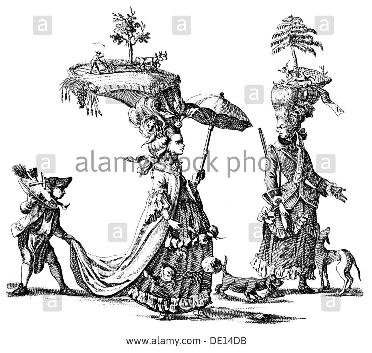 Download this stock image fashion 18th century putup