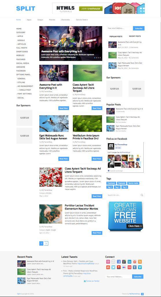 Split WordPress Advertising Revenue Theme - #wordpress #magazine #theme #template #webdesign #responsive