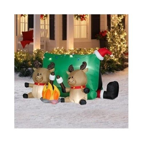 Christmas Decorating Ideas Inflatable Long Airblown Santa Home Trees - inflatable christmas yard decorations