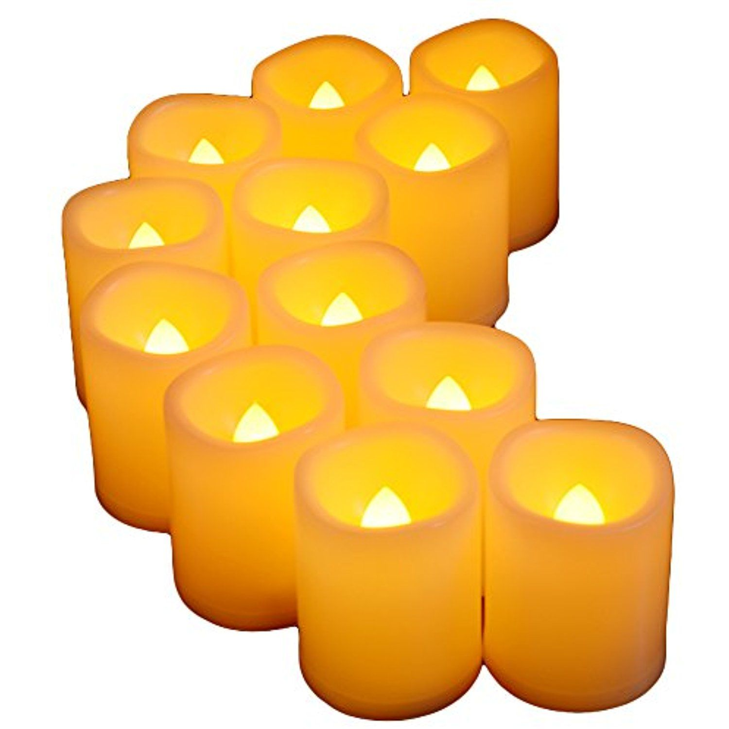 Flameless Votive Candles Flickering Led Flameless Votive Candles120 Hours Long Battery Life