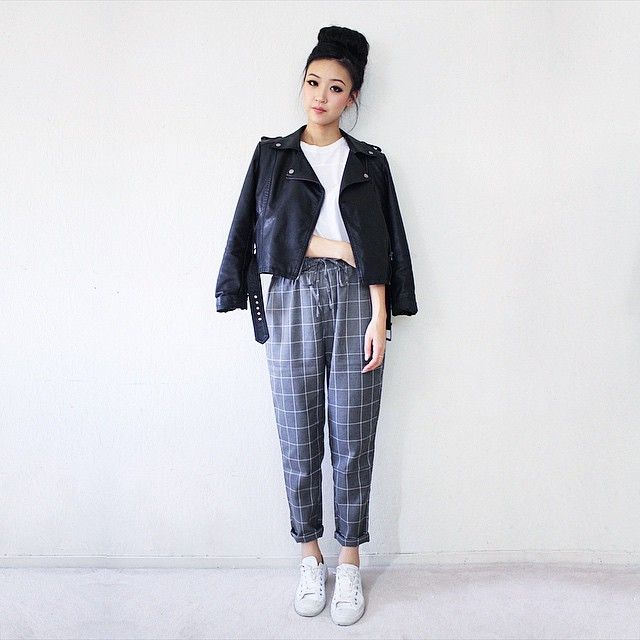 loving these gridline trousers from @mintyjungle!