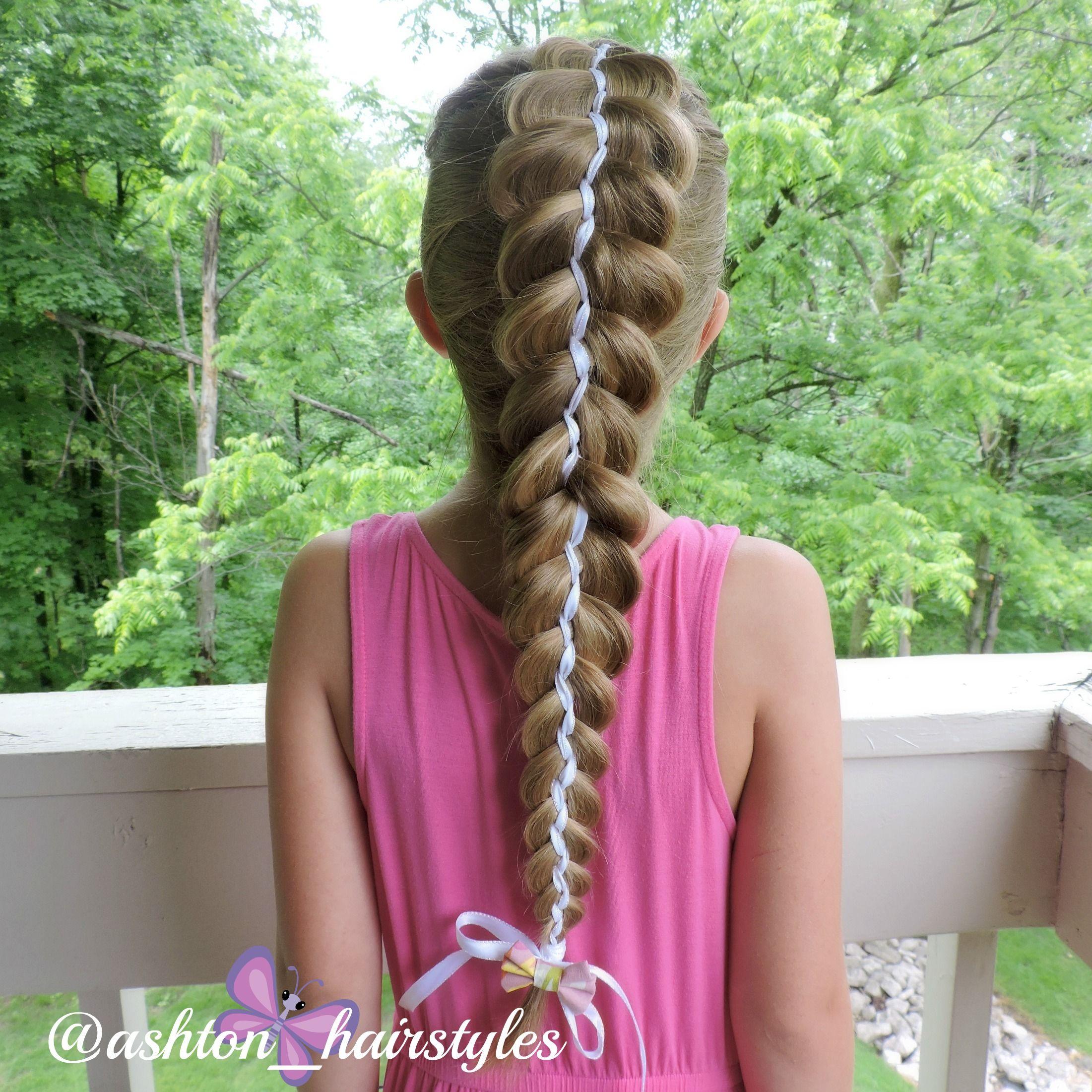 5 strand ribbon braid | Kids hairstyles, Hair styles, Ribbon braids
