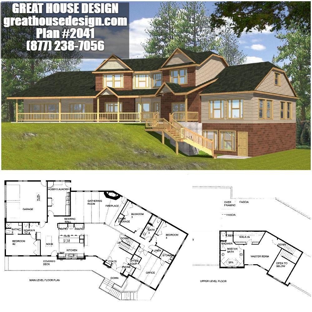 Beautiful Waterfront Icf Home Plan With Large Master Suite Plan