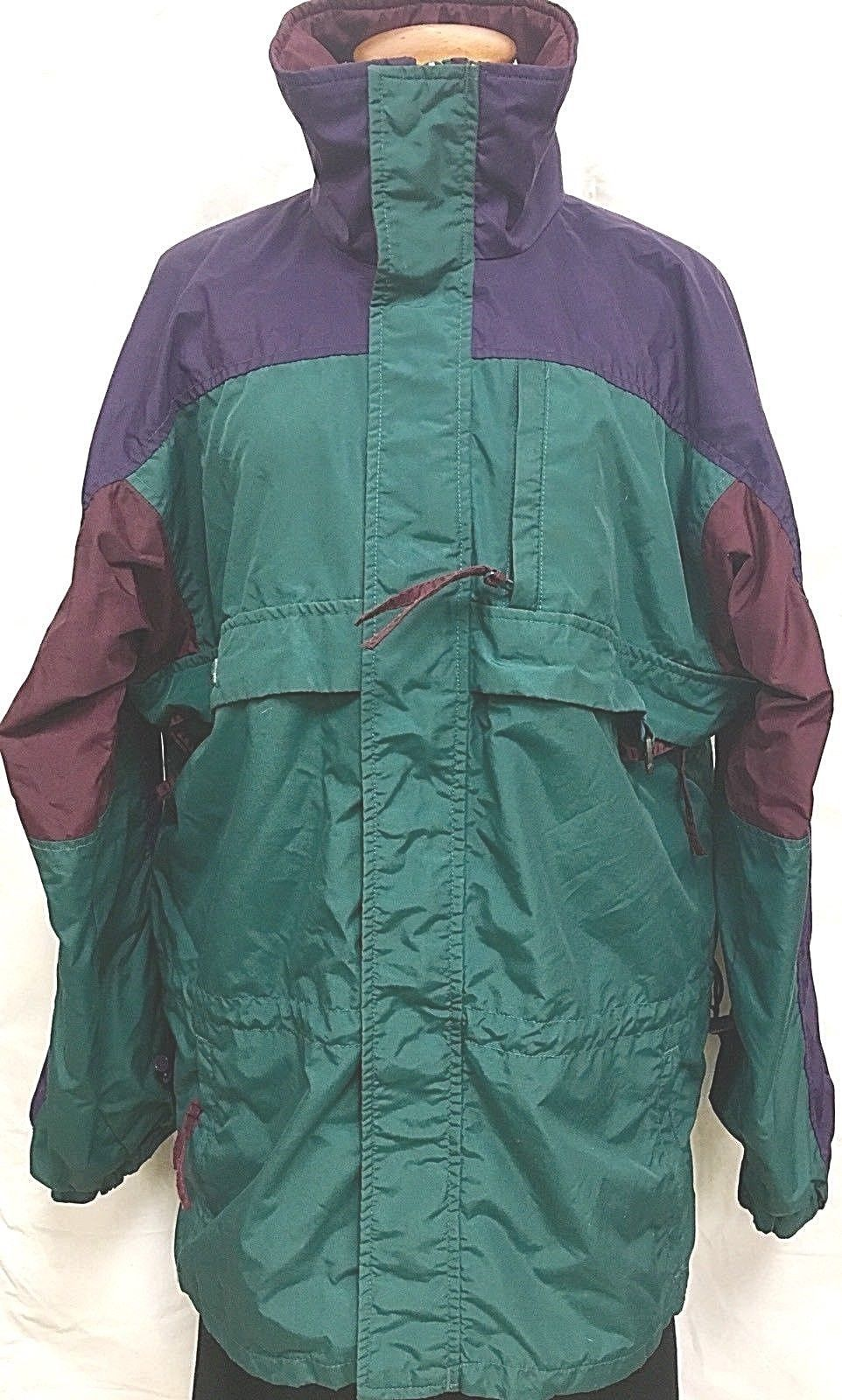 bf727d3e7a Vintage 90 s COLUMBIA Gizzmo Mens Medium TEAL Outdoor Windbreaker Jacket