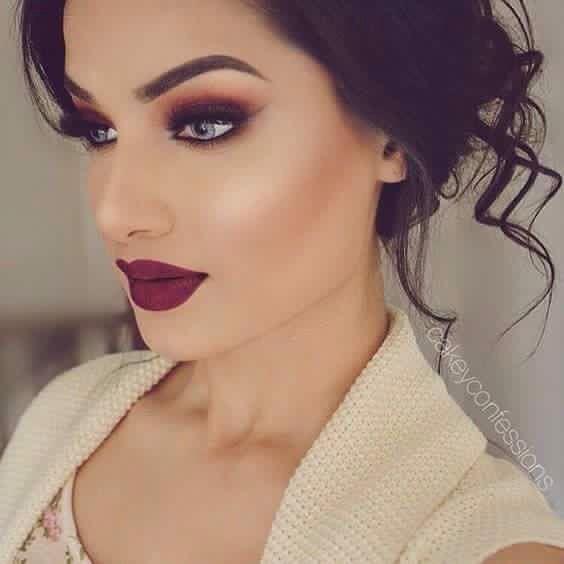 Maquillaje Color Vino Makeups Maquillaje De Ojos