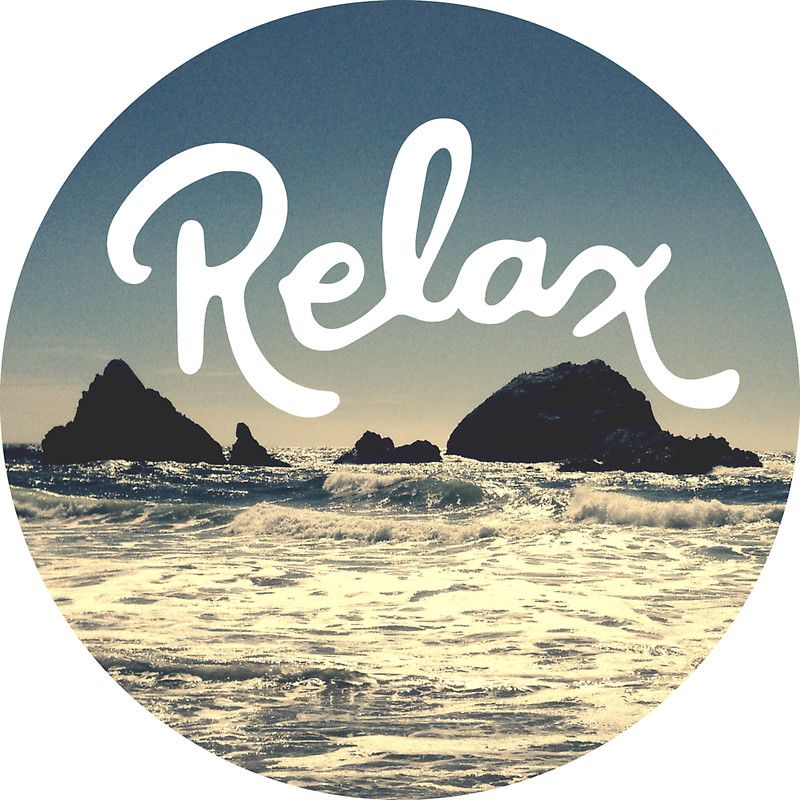 Relax Hipster Beach Typography Tumblr Boho Photo