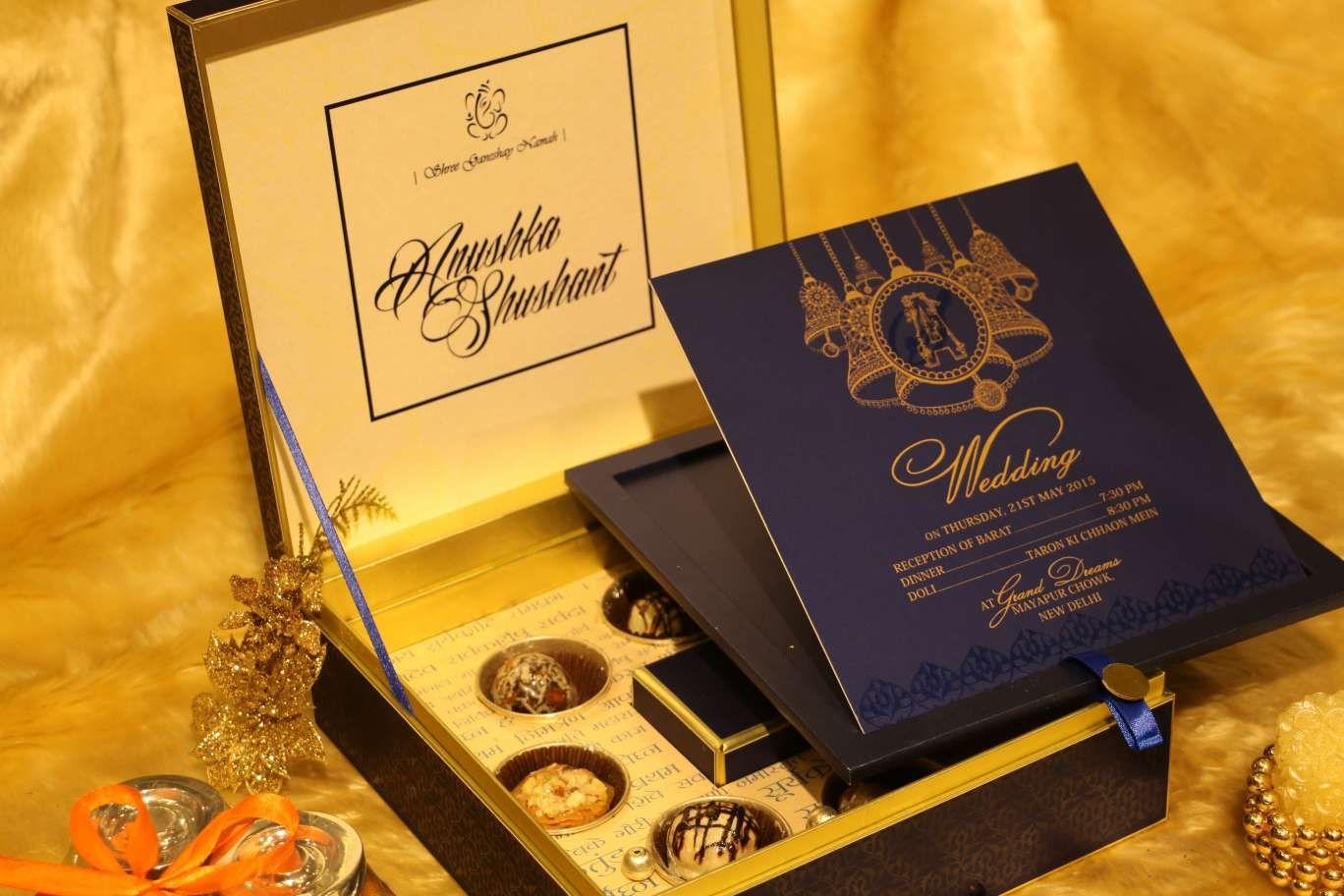 closeview-designer-blue-wedding-cards #newdelhi #weddinginvitation ...