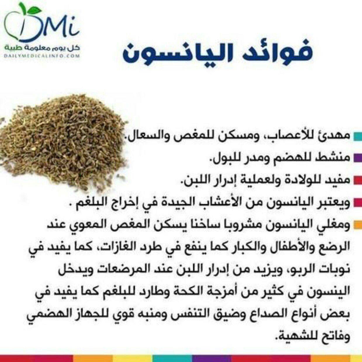 الينسون Health Facts Food Health Drink Health And Nutrition