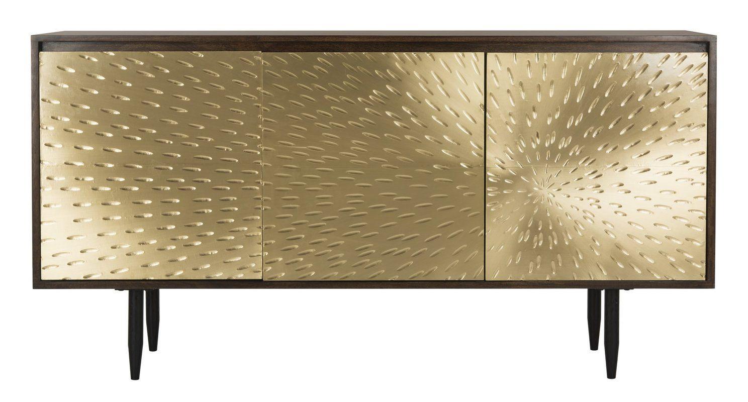Credenza Dark Brown : Eleni brass sideboard dining room buffet