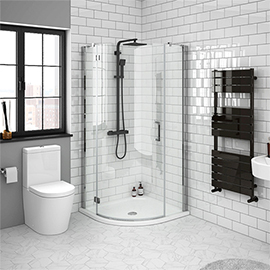 Apollo Frameless Single Door Quadrant Enclosure With Tray Victorian Plumbing In 2020 Corner Shower Enclosures Shower Enclosure Quadrant Shower Enclosures