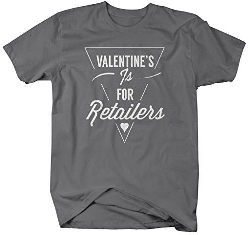 Shirts By Sarah Men's Ironic Valentine's Hipster T-Shirt Funny Shirts
