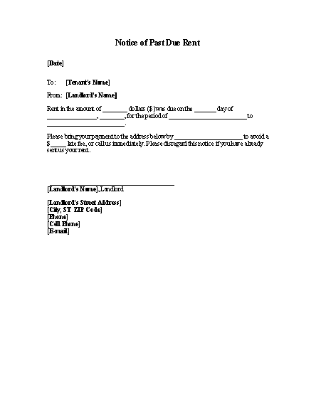 Late Rent Past Due Rent Notice Template Office Templates - Past due invoice template