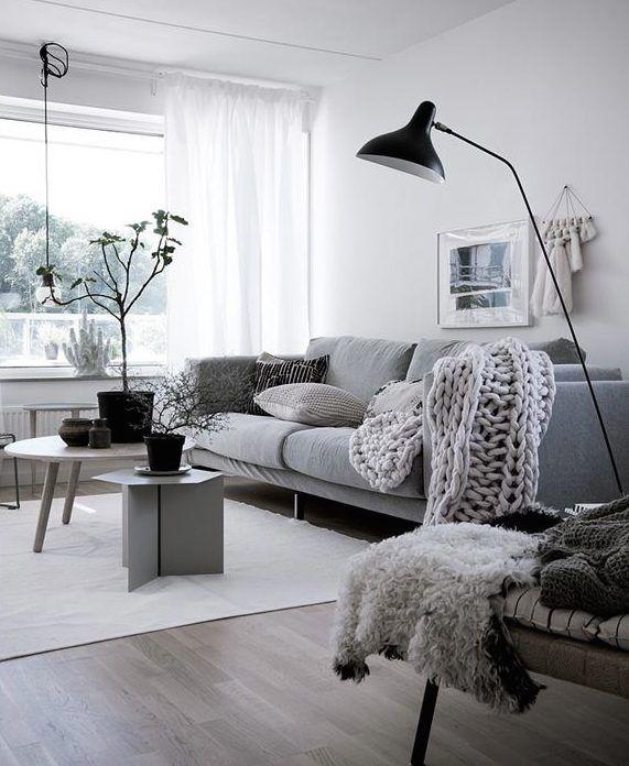 Salon estilo nordico decoraci n estilo n rdico casa de for Lamparas estilo escandinavo