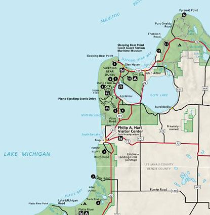 Sleeping Bear Dunes National Lakes Is Located In Northwestern Lower Michigan Along The Ss Of Lake
