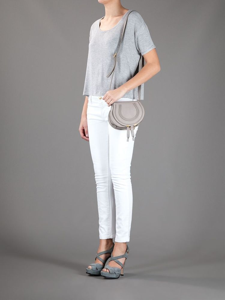 794681ee SS2015 CHLOE' MARCIE CROSSBODY CASHMERE GREY ROUND SMALL BAG TOTE ...