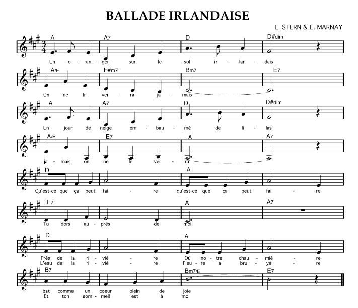 partition musique irlandaise accordeon