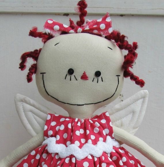 Snoopy Christmas Tree Topper: Angel Christmas Tree Topper In Red And White By